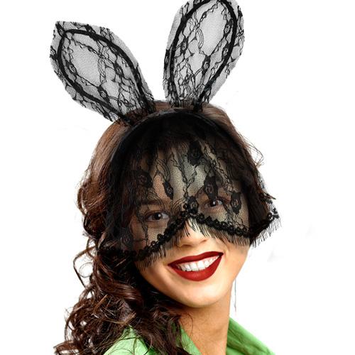 Wsb Black Lace Bunny Ears
